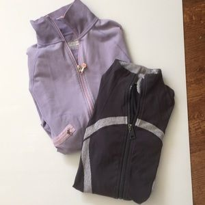Lululemon front zip jackets. Two in bundle. Size 8